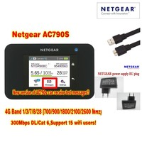,Dhl delivery,Lot of 10pcs unlocked cat6 300mbps netgear 790s AC790S Aircard 4G LTE pocket wifi router plus 2pcs antenna