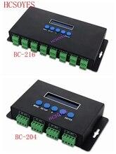 BC 216/BC 204 680pixels * 4ch led artnet controlador para spi/dmx pixel controlador de luz 340pixels * 16ch + duas portas (2x512)
