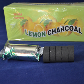 Shisha Hookah Charcoal Lemon Flavored Quick-lighting Burn Even Lasting Long Flavored Charcoal Less Ash Chicha