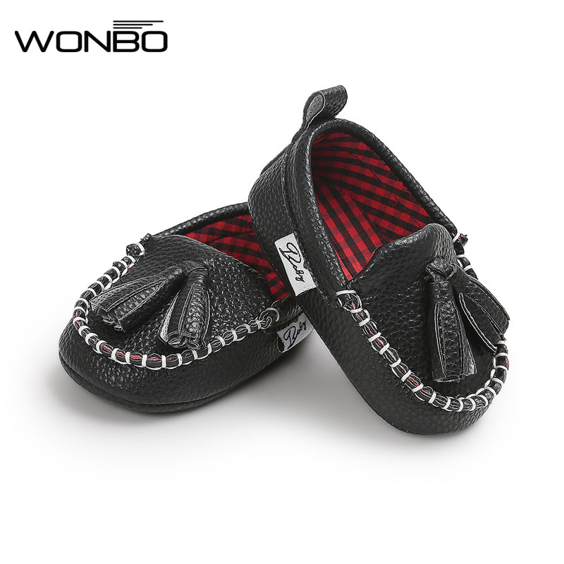 WONBO Tassel Moccasin Slippers Tassels Baby Moccasin Newborn Babies Shoes Pu Leather Prewalkers Boots