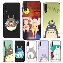 N447 Totoro Funny Black Silicone Case For Samsung Galaxy A2 Core A6 A7 A8 A9 A10 A30 A40 A50 A60 A70 A8S A9S A20E Plus(China)