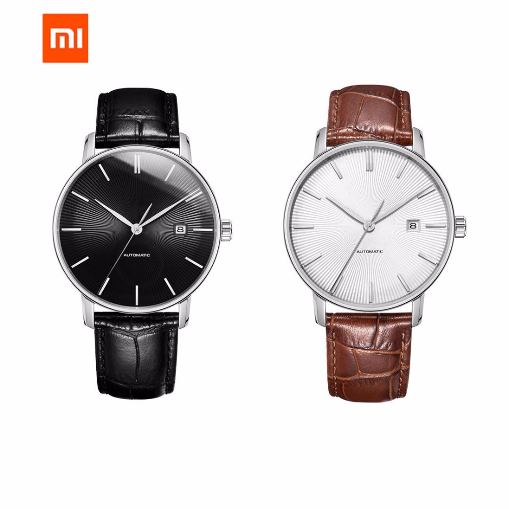 Image 4 - Original xiaomi mijia TwentySeventeen Mechanical watch With Sapphire Surface Leather Strap Fully automatic mechanical movement-in Smart Remote Control from Consumer Electronics