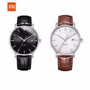 Image 4 - Original xiaomi mijia twentyseventeen relógio mecânico com superfície de safira pulseira de couro totalmente automático movimento mecânico
