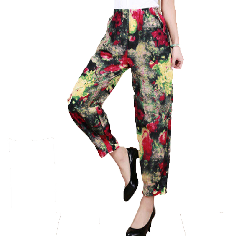 Wonderful Women Cotton Casual Loose Linen Black Harem Pants  Buykud