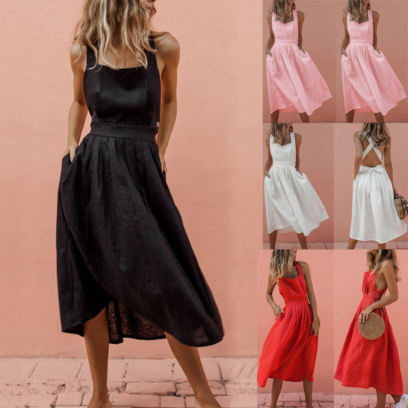 Elegant button women dress Pocket polka dots yellow cotton midi dress Summer casual female plus size lady beach vestidos 4.8