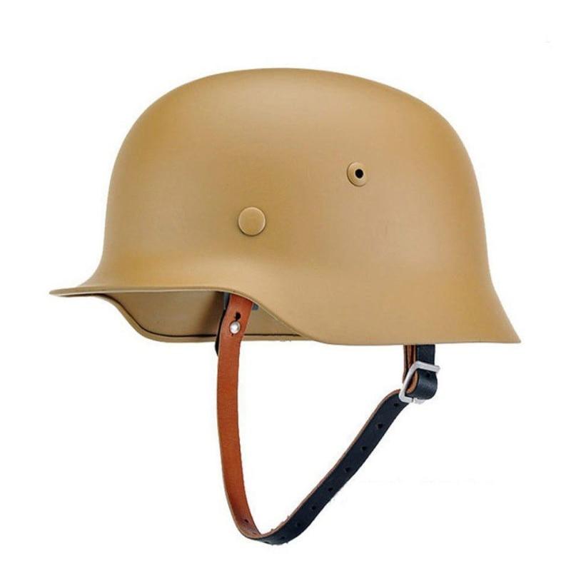 WW2 WWII GERMAN GEAR ELITE WH ARMY M35 M1935 ACCIAIO CASCO sabbia di colore