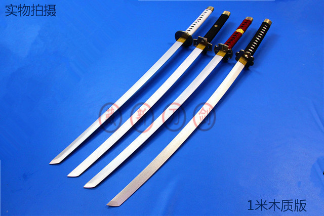 One Piece Roronoa Zoro Anime Cosplay wooden Sword knife blade weapon Cosplay Props shipping free