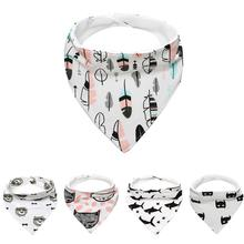 2017 New Design Cute Cartoon Patterns Baby Kids Cotton Bandana Bibs Feeding Saliva Towel Dribble Triangle Waterproof great
