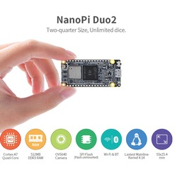 NanoPi DUO2 512 М Allwinner H3 Cortex-A7 WiFi Bluetooth модуль UbuntuCore светильник-вес IoT приложения