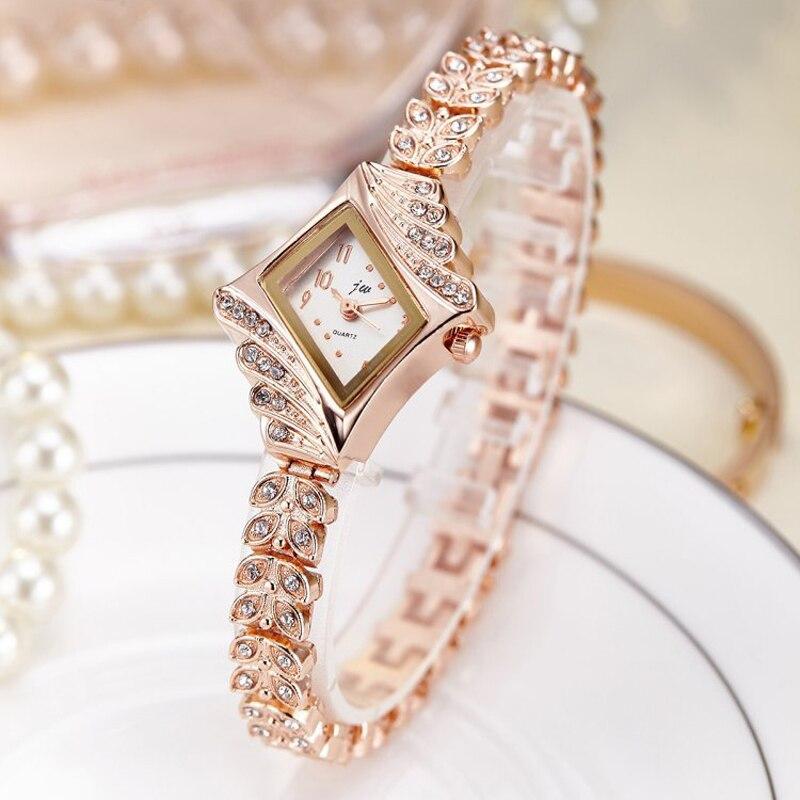 2019 Fashion Women's Wrist Watch Rhinestone Luxury Stainless Steel Quartz Women With A Bracelet Dress Watches Ladies Watches