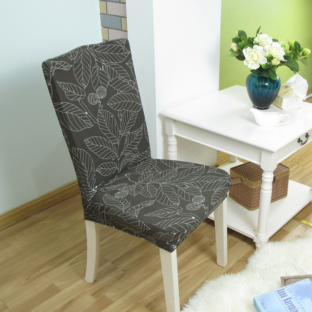 Floral Print Spandex Chair Covers Dining Chair Cover Multifunctional - Chaise salle a manger confortable