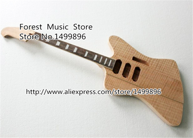 Nature Wood Firebird Electric Guitar Kits without Parts China OEM Guitar Left Handed Custom Available electric guitar new tl guitar oem guitar guitar in china