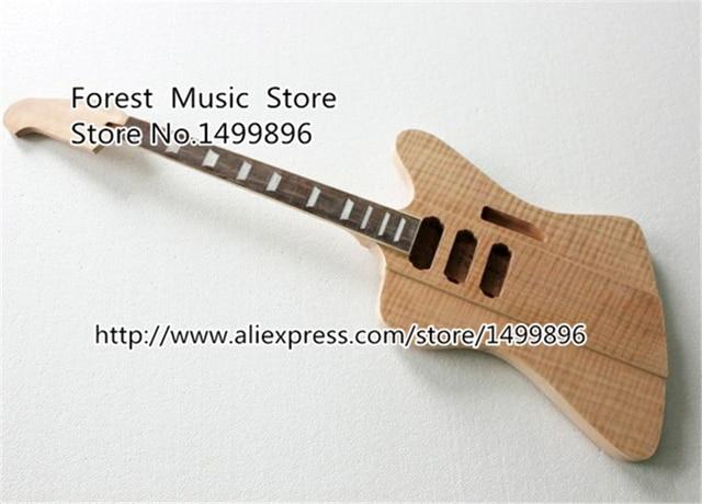 Nature Wood Firebird Electric Guitar Kits Without Parts China Oem
