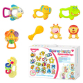 Huanger Baby Rattles/Mobiles 8pcs/set Mamas Papas Baby Teether Toys For Newborns Toddler Educational Gift  baby