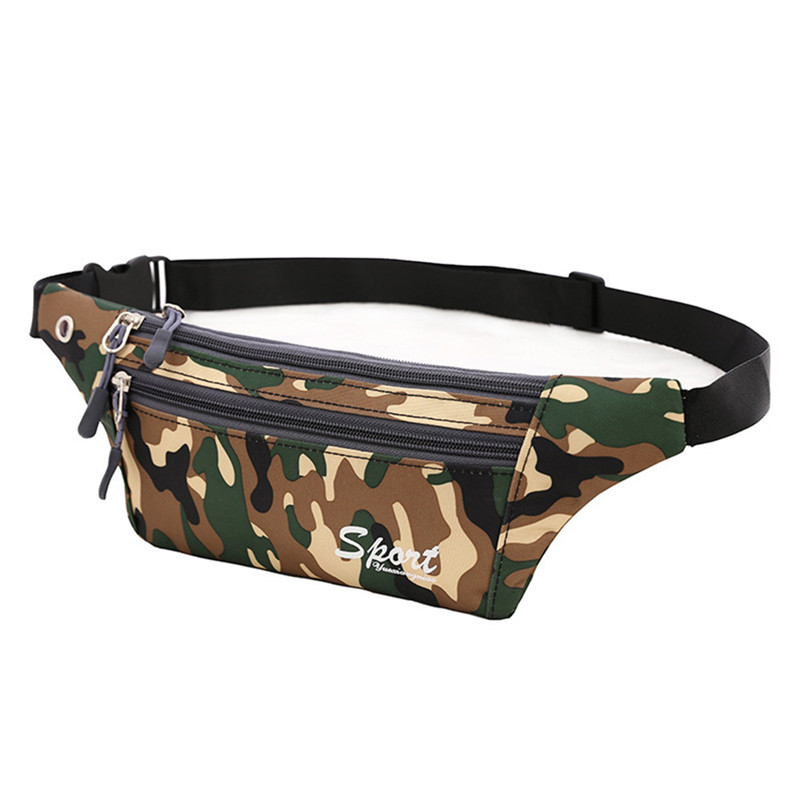 Unisex Men Women Waist Chest Bags Camouflage Canvas Cross body Shoulder Bag Chest Bag Female Male Waist Packs A9 цена