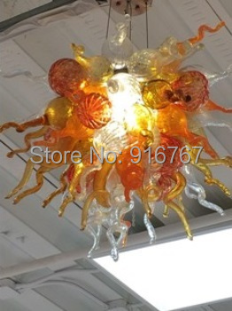 Free Shipping Discount Light Office Hanging Lamp Hall Chandelier Blown Art Glass glass lamp cover lamp tree lamp shade glass -