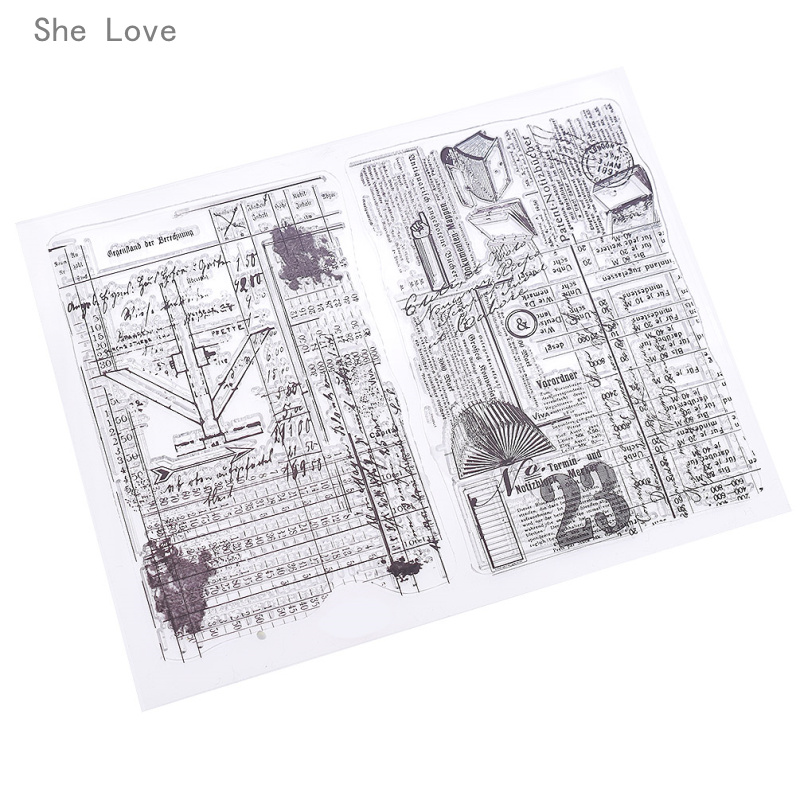 She Love Vintage Street Transparent Clear Stamp for DIY Scrapbooking Card Decorative Embossing Background Sheet archetype transparent ver she