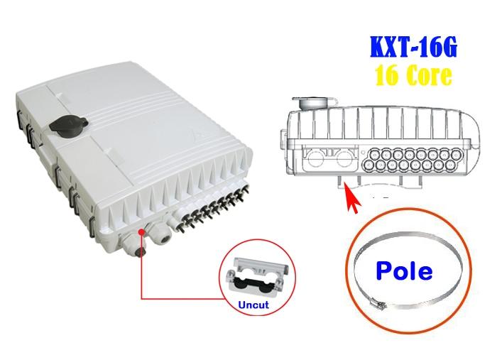 Boîte de terminaison à 16 noyaux KEXINT boîte de Distribution à Fiber optique FTTH boîte à bornes à Fiber optique de haute qualité/