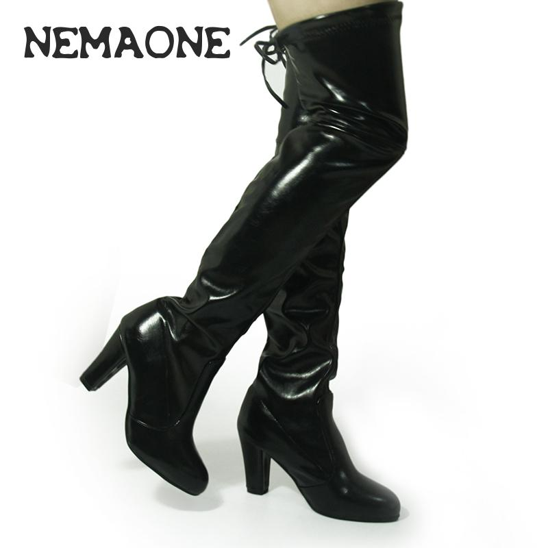Faux Leather Thigh High Boots Promotion-Shop for Promotional Faux ...