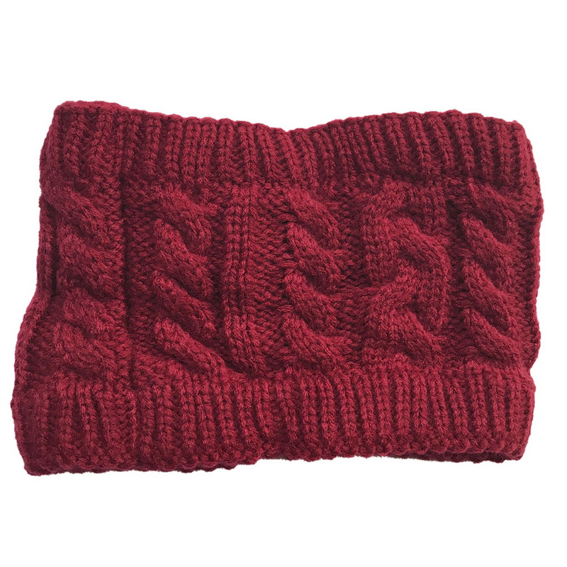 NIBESSER Fashion Snowboard Warm Knitted Cap Snap Skullies Bonnet Beanie No Top Wool Hat Women Multi-purpose Hat 17
