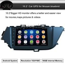 """2 DIN Android Quad Core 10.2 """"GPS Player de Rádio Estéreo Do Carro Terno para Nissan Bluebird com Wi-fi Bluetooth USB"""