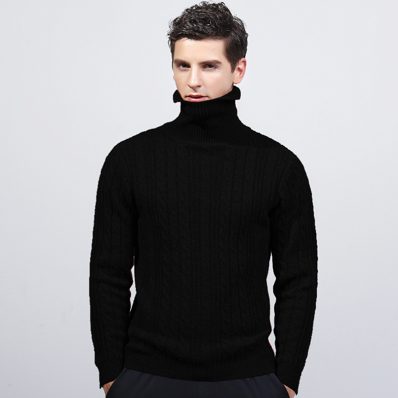 MRMT 2019 Brand Winter New Men's Body Knitting Sweater Pure Cotton High-collar Overcoat For Male Sweater Outer Wear Clothing