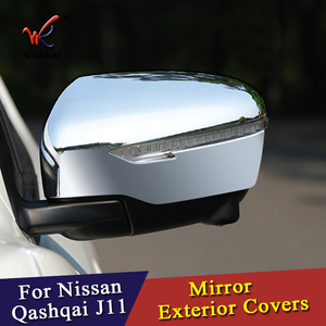 Image 2 - WK For Nissan Qashqai J11 Rogue X Trail T32 2014 2015 2016 2017 Car Chrome Styling Rearview Mirror Exterior Covers Accessories