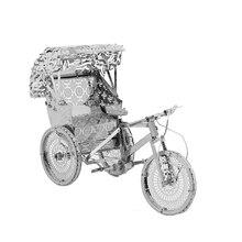 3DMetal Modell Rejtvények Multi-style DIY Lézeres Cut Puzzle Homorítófűrész készlet felnőtteknek Gyerekek Gyerekek oktatási gyűjtemények Játékok rickshaws