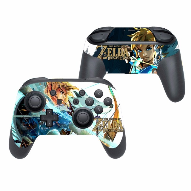 Game The Legend of Zelda Vinyl Cover Decal Skin Sticker for Nintendo Switch Pro Controller Gamepad Skin Stickers 4