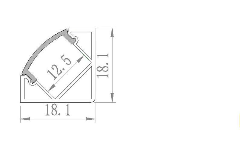 Nemokamas pristatymas 100vnt / lot 2Meter ilgio LED aliuminio - LED Apšvietimas - Nuotrauka 2