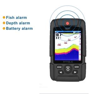 Image 4 - Русский язык Lucky FF718LiC реальный водонепроницаемый рыболокатор монитор 2 в 1 беспроводной проводной сонар зимняя подледная рыбалка рыболокатор # C5