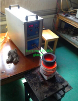 High Frequency 220V 15KW 1 kg Gold Silver Copper Melting Furnace Welding Machine jewelery tools