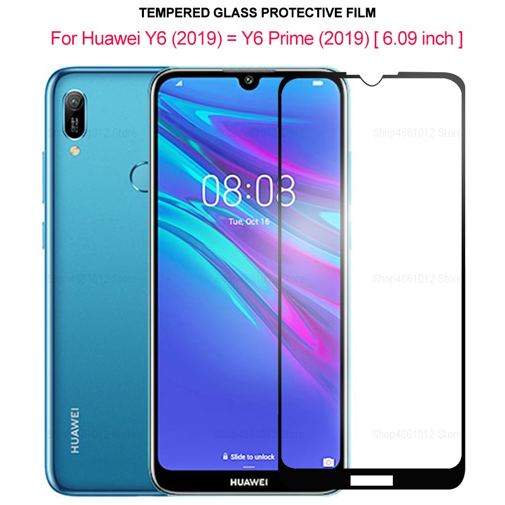 Full Cover Tempered Glass For Huawei Y6 2019 Screen Protector For Huawei Y6 Prime 2019 Protective Glass Film On Huawai Y 6 Prime
