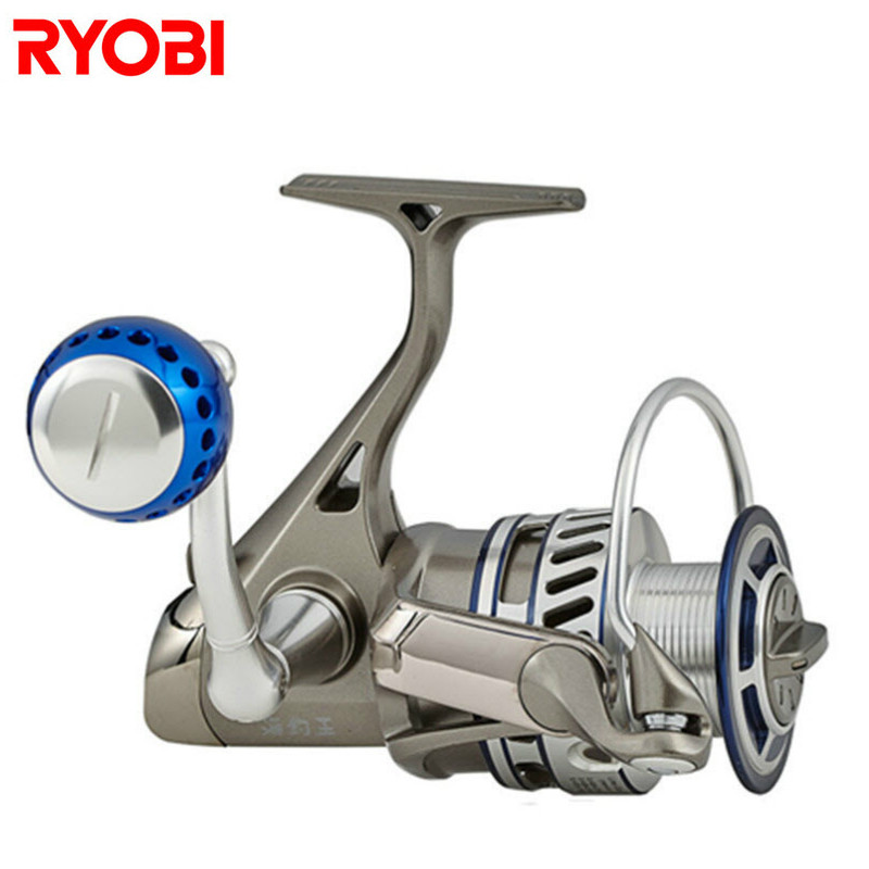 RYOBI 1000-8000 Spinning Fishing Reel 6+1BB 5.0:1/5.1:1 Line Fishing Wheel Moulinet Peche Carretilhas De Pescaria Carp Fish Coil baitcasting fishing reel 14bb 7 0 1 right left hand bait casting spinning lure wheel carp moulinet peche carretilhas de pescaria