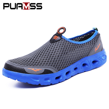 Men Casual Shoes 2019 Summer New Men Sandals Air Mesh Lightweight Breathable Water Slip-on Shoes Men Sneakers Sandalias Mujer