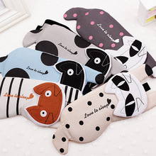 Cartoon Cat Ice Sleeping Mask Fashion Sleep Blackout Breathable Goggles Travel Rest Eyepatch For Women And Men