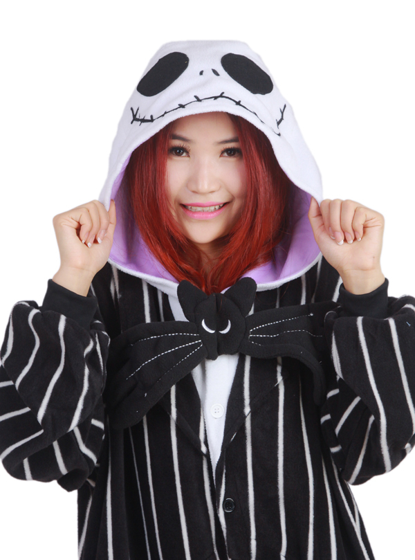 0955ec118fcd7 Novelty Cosplay Anime Jack Skellington Skeleton Designer Costume Adult  Unisex Onesie Party Christmas Pajamas Plus Size S XL-in Anime Costumes from  Novelty ...