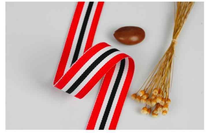 Novo vermelho branco preto listras boné com fita presente 10mm, 30mm 50mm diy roupas cinto calças vestido artesanal acessórios de costura