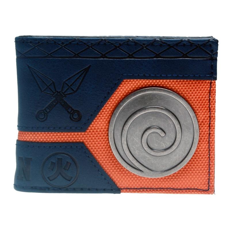 Naruto Black Bi-Fold Wallet DFT-3133 playstation wallet nintendo game boy white bi a fold wallet dft 1510