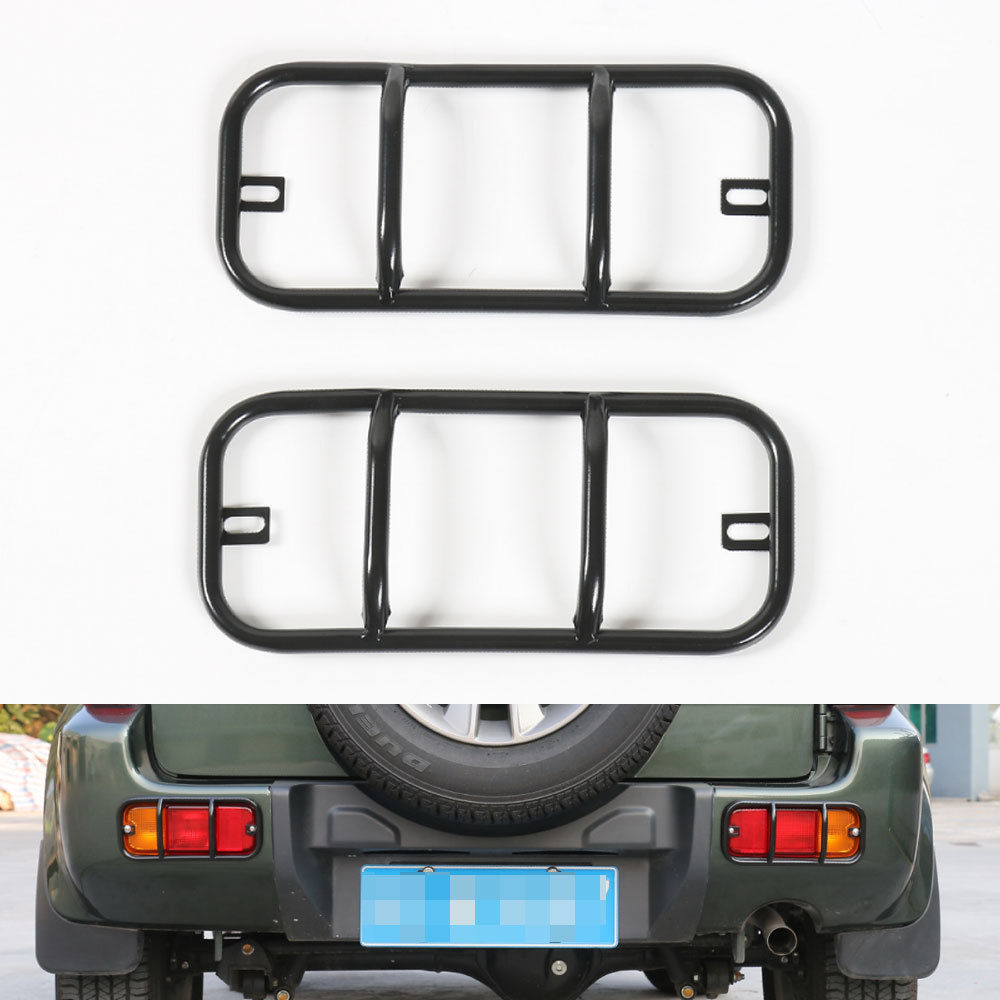 Para Suzuki Jimny 2007-2015 Tampa Traseira da Luz de Nevoeiro de Metal Guarnição Protetor Acessórios Para Carros Bumper Lamp Fog Lamp Car-Styling hoods