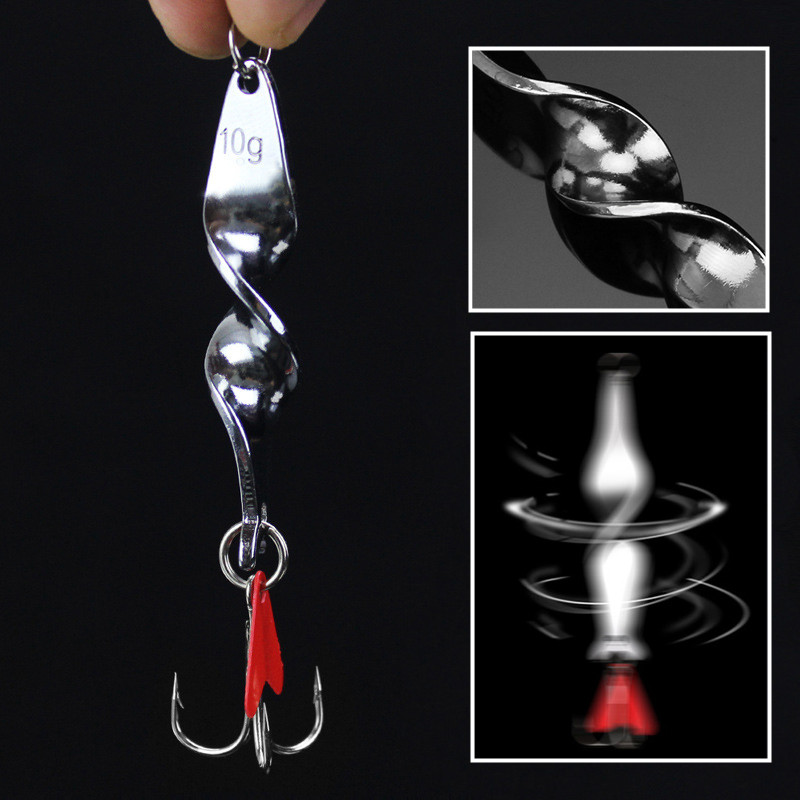 1PCS 10g/14g/21g Spinner Spoon Fishing Lures Hard Baits For Fishing Metal Peche With Treble Hook Tackle hengjia hard metal spinner spoon sequin fishing baits leurre peche brochet pike bass fishing lures pesca fishing tackles 5pcs