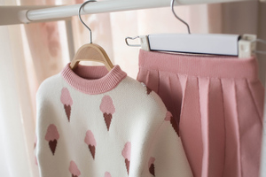 Image 4 - Bebê outono inverno meninas conjunto de roupas crianças algodão 2 pçs panos crianças roupas camisa + saia camisola terno para meninas traje 5 t