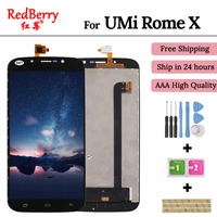Redberry For UMi Rome X RomeX LCD Display Touch Screen Mobile Phone Lcds Digitizer Assembly Replacement Parts +Tools +Adhesive