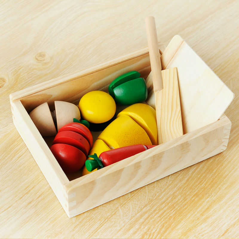 Free shipping supply wooden toys wood fruit after game children play toys green pepper f ...
