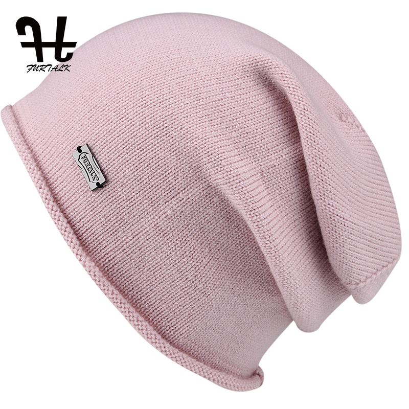 FURTALK Wool Cashmere   Beanie   Hat for Women Autumn Winter Knit   Skullies     Beanies   Slouch Braided Warm Winter Hats For Girls 2019