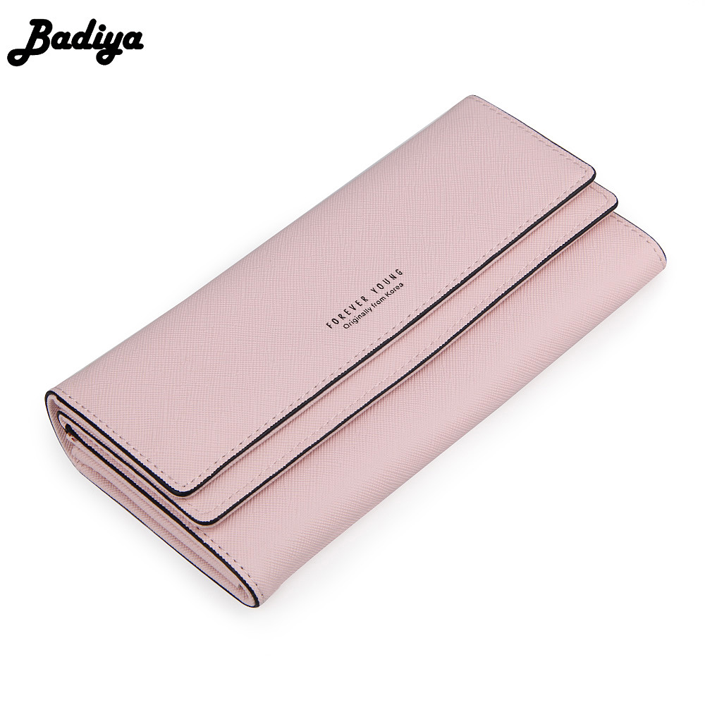 Fashion Women Clutch Long Wallet Hasp Design Solid Credit Card Holder Bag Purse PU Leather Ladies Female Purses Carteras купить