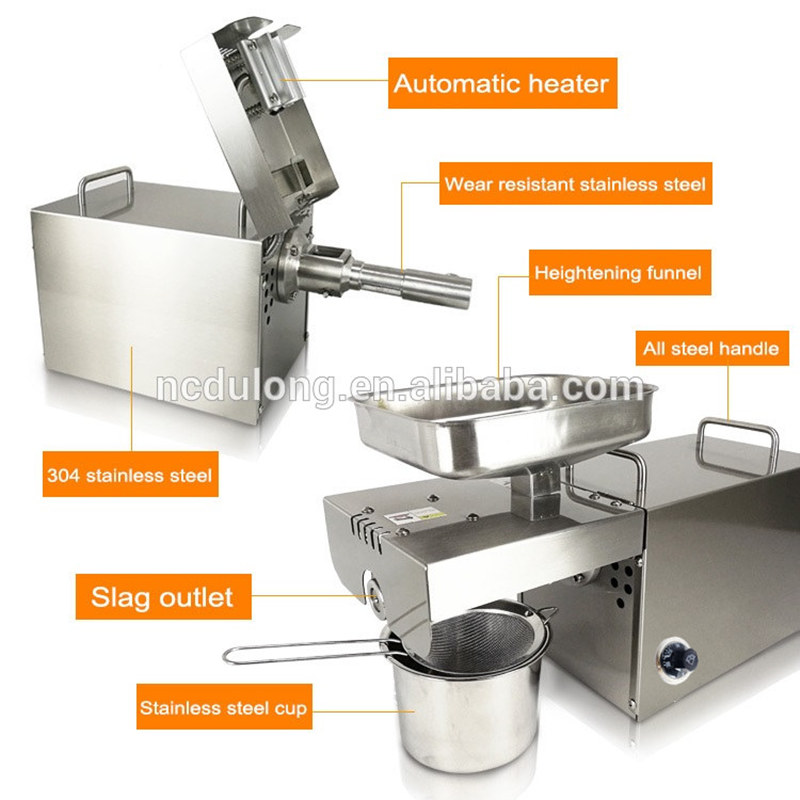 Brand New Temperature Control High Oil Extraction Hot And Cold Home Oil Press Machine Peanut Oil Press Machine zyj 02 new oil press machine hot and clod pressing for peanut soybean sesame oil making machine high oil extraction rate