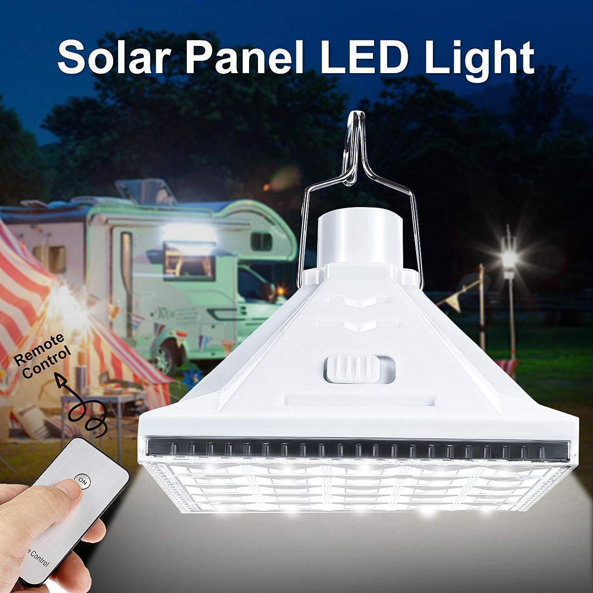 25 LED Solar Powered Camping Light Outdoor Emergency Solar Night Lamp Tent Lantern With Remote Control+ USB Charger Port