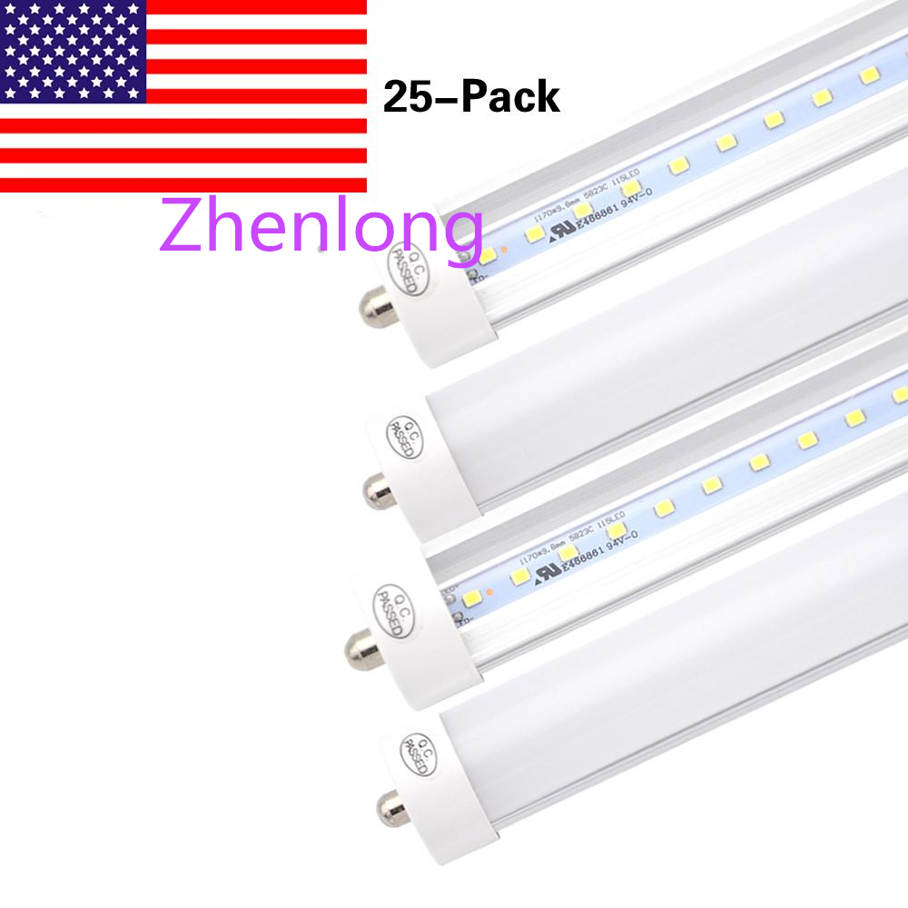 Fluorescent Tube Led Light Us 162 15 31 Off 8 Feet Led 4ft 5ft 6ft 8ft T8 Fa8 Single Pin Led Lights Led Fluorescent Tube Lamps Ac85 265v 6000k Cold White Fedex Ship In Led
