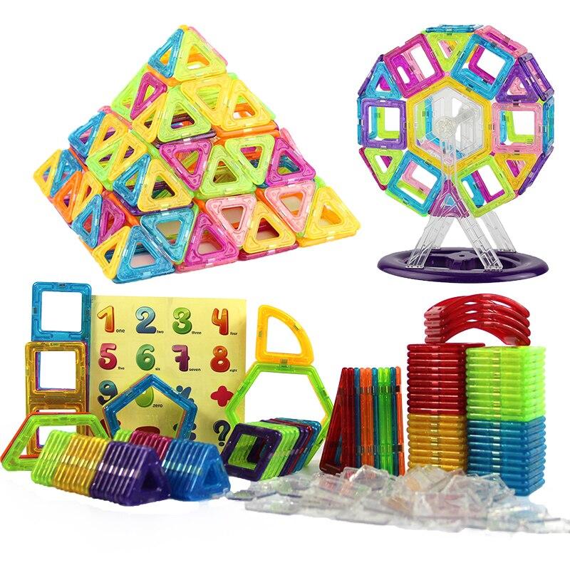 152-160 pièces Mini concepteur magnétique en plastique aimant blocs de Construction ensemble de Construction modèle Construction jouets jouets éducatifs enfants cadeau